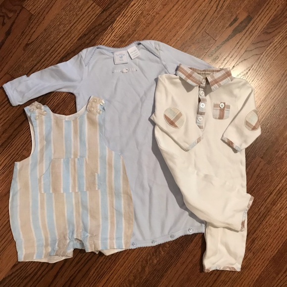 260a792e39ac7 Baby boy lot of 3 classic gown one pc & romper 0-3